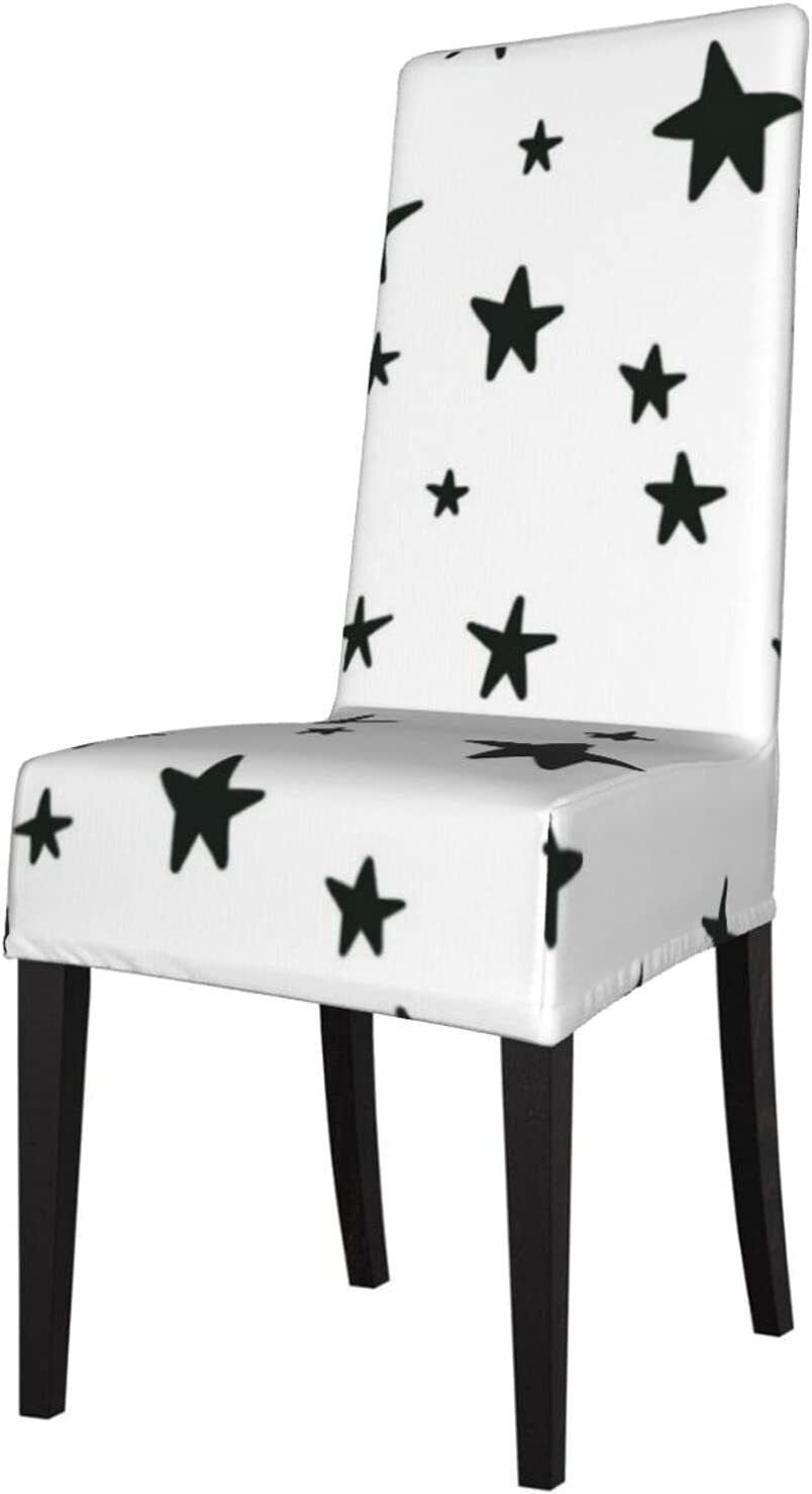 Ranking TOP14 QUAVZI 2PCS Stretch Chair Covers for Dining quality assurance White and Black Room