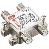 マスプロ電工 新4K8K衛星放送(3224MHz)対応 3分配器 1端子電流通過型 3SPFW