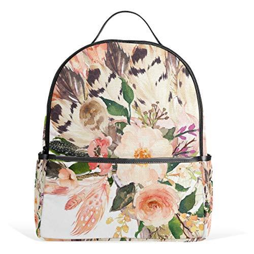 Rucksack, 42 x 36 cm, pfirsichfarbener Kopfschmuck für Herren und Damen, Rucksack, College, Tagesrucksack, Jugendliche, Reisetasche, lässiger Tagesrucksack für Reisen