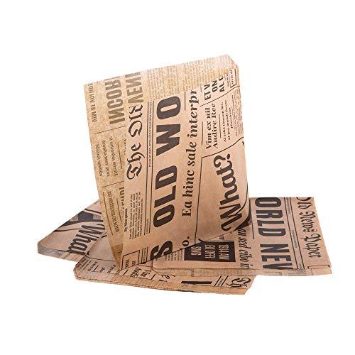 (Packung mit 50 Stück) Oldnews, Bastelpackung 150 x 150 mm Papier Party Merchandise 15 x 15 cm Sack Bags