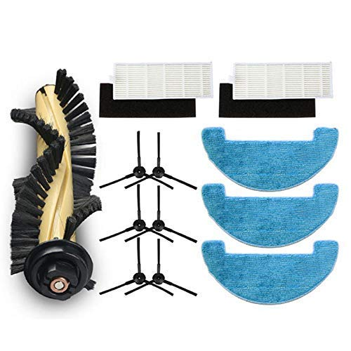 NICERE Aspiradora Reemplazos Filtro+Cepillos+Mop+Esponja para Deebot Cen663 Cen664 Dm82 Aspiradora