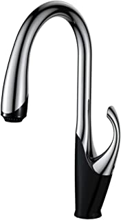 Double-controlled Chrome Kitchen Faucet Pull-out Cool and Hot Water Kitchen Tap