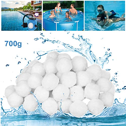 GothicBride Filterballs für sandfilteranlagen, 700g filterbälle für Schwimmbad, Filterpumpe, Aquarium Sandfilter.