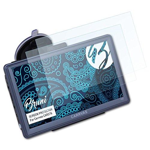 Bruni Schutzfolie kompatibel mit Carrvas CAR376 Folie, glasklare Displayschutzfolie (2X)