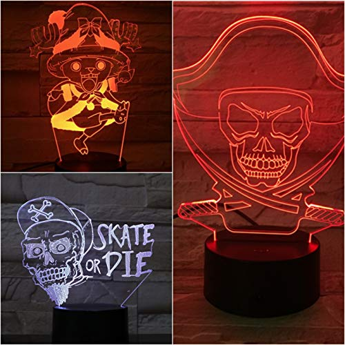 Only 1 pcs ONE PIECE USB 3D LED Night Light Multicolor RGB Tony Chopper Children Kids Gift Baby Nightlight Buggy Table Lamp Bedroom Neon