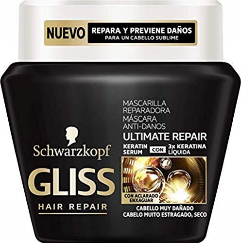Gliss - Mascarilla Ultimate Repair para Cabellos Muy Dañados - 2 uds de 300ml - Schwarzkopf