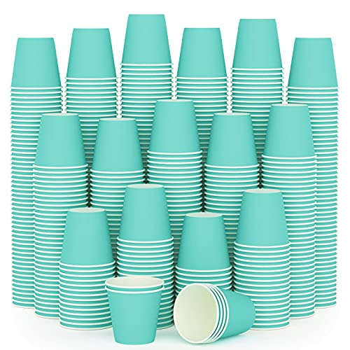 600Pack 3 oz Paper Cups, Disposable Sky Blue Bathroom Cups,Small Mouthwash Cups,Espresso Cups, Paper Cups for Party, Picnic,Travel and Event