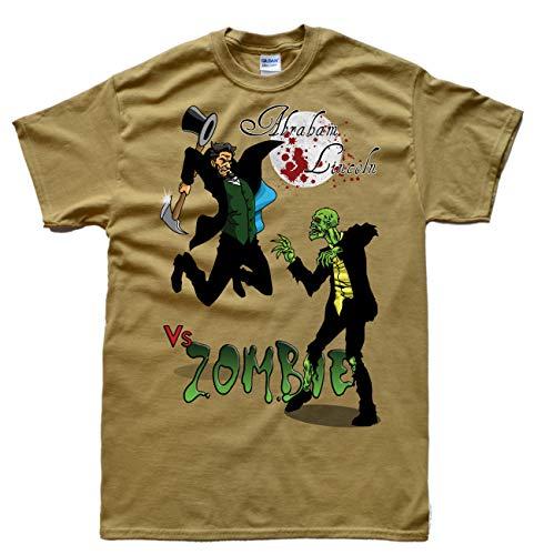 Lincoln vs Zombie Beige T-Shirt, Größe 2XL