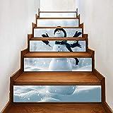 escalerasengomadas del árbol de Navidad - Pegatinas de escaleras navideñas DIY...