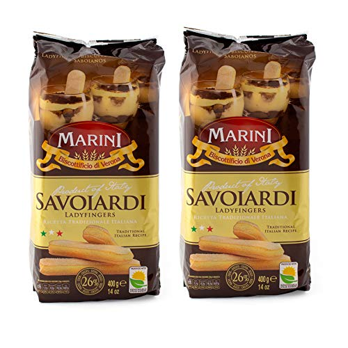 Marini Savoiardi Italian Ladyfingers Cookies - Biscottificio di Verona Italiani - Product of Italy (Ladyfingers 800 Grams)