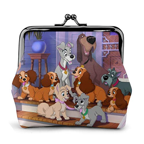 Cartoon La-Dy Tr-Amp Coin Purse Kiss-lock Jewelry Cards Pouch Closure Wallet Key Holder Change Purse...