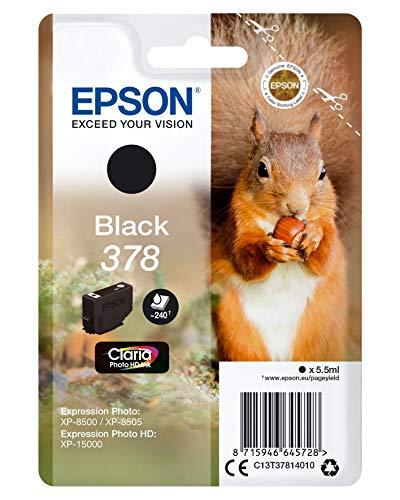 Epson Squirrel Singlepack Black 378 Claria Photo HD Ink