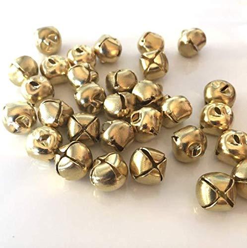 Katzenglöckchen, Metall, 10 mm Durchmesser, goldfarben, 25 Stück