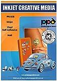 PPD A4 Inkjet Vinyl Aufkleberfolie Weiß Matt Selbstklebend - Speziell beschichtet für vollfarbige...