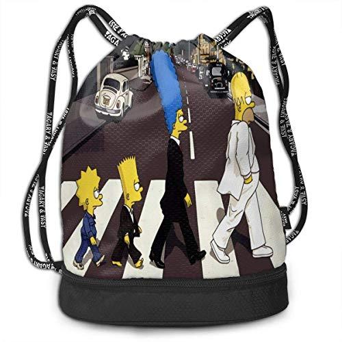 Simpsons Drawstring Bags Multifunktions-Bundle-Rucksack Große Kapazität Leichte einfache tragbare lustige Handtasche