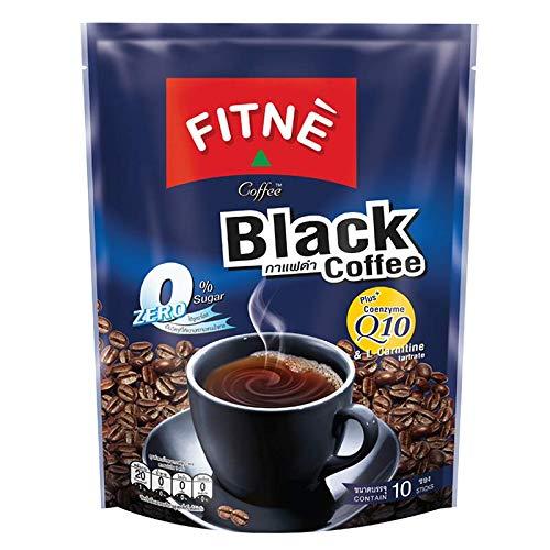 Kaffee FiTNE mit Coenzym Q-10 + L-Carnitin 50g Instant Black Coffee Zero Zucker