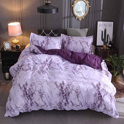 Duvet cover set, stone grain simple plain bedding set, with pillowcase, super soft and comfortable duvet cover, used in family hotels