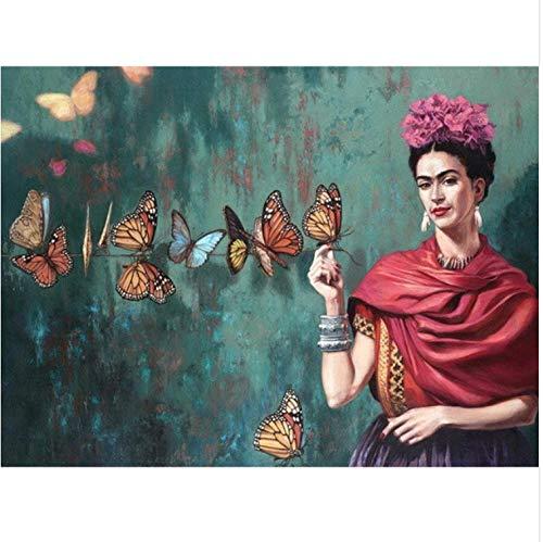 Diamante Pintura Bordado 5D Diy Diamond Mosaico Frida Kahlo
