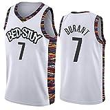 BXWA-Sports Baloncesto Jersey Bed-Stuy NBA Kevin Durant # 7 Transpirable Baloncesto Aptitud del Chaleco del Deporte del Desgaste de la Vendimia Camiseta Jerseys Resistentes,L(180cm/75~85kg)
