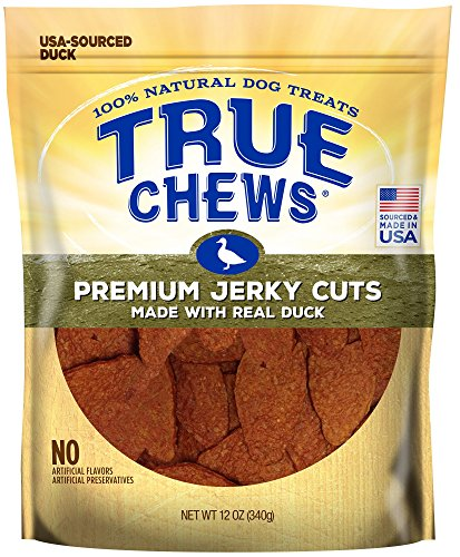 True Chews 019362-2303 Premium Jerky Cuts Made With Real Duck 12 Oz, Natural