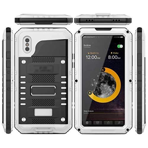Carcasa Silicona Transparente Caja de teléfono a prueba de agua R-Simply Doom Armor Case Fit fit for iPhone 6 6s 7 Plus X Metal Aluminio Suck Shock impermeable IP68 Caso Ajuste fit for iPhone 7 8PLUS