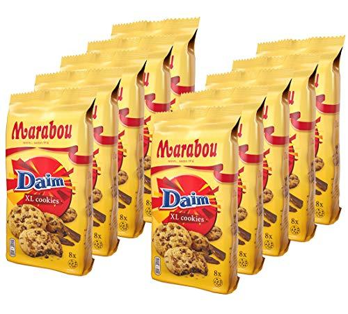 10er SET Marabou Cookies Daim 184 g / XL Cookies / Kekse mit crunchy Daim-Splittern