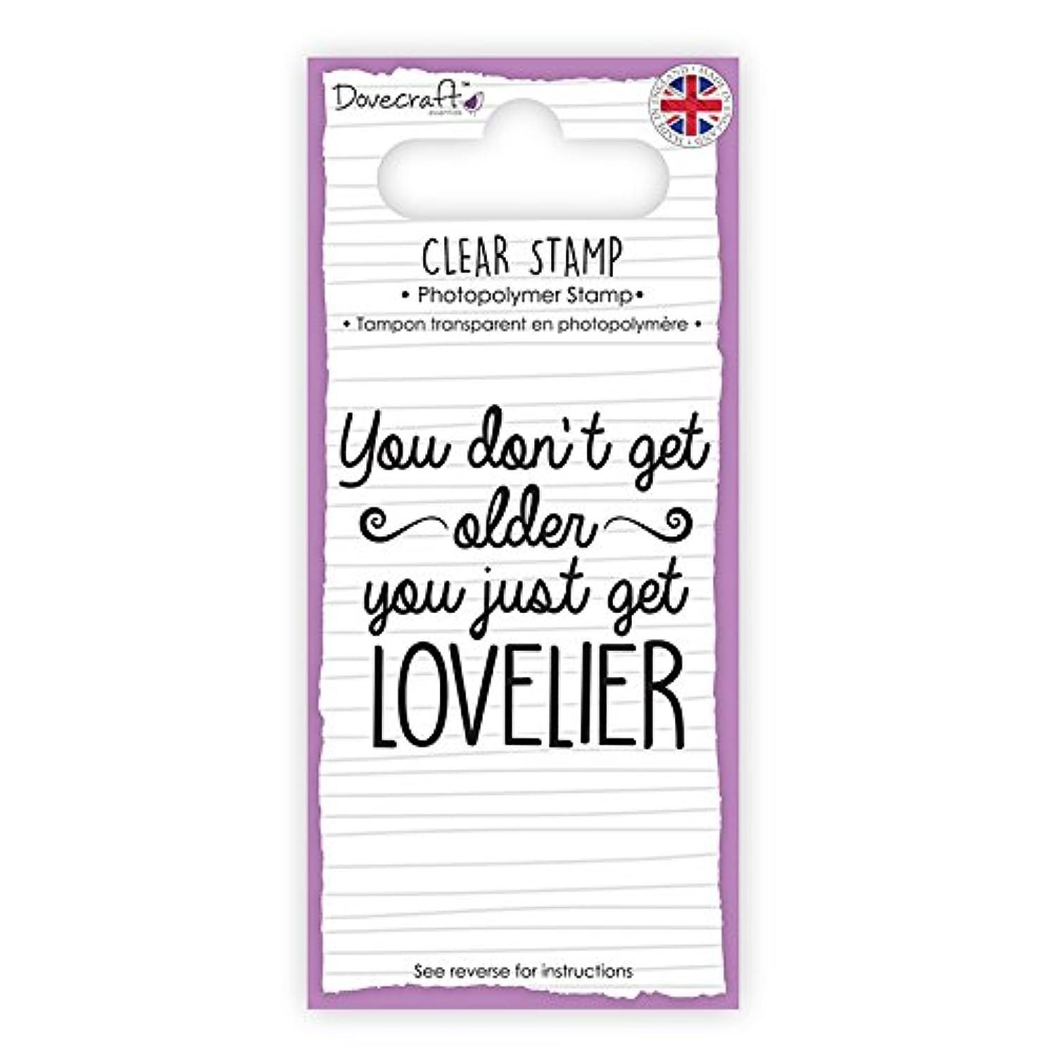 DCSTP093 Dovecraft Sentiment Clear Stamp-Lovelier