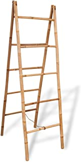 vidaXL - Toallero Doble de bambú, 5 peldaños, 50 x 160 cm, bambú, Color marrón, Talla única