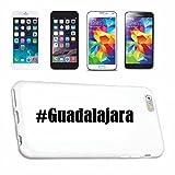 Reifen-Markt Hard Cover - Funda para teléfono móvil Compatible con Apple iPhone 6+ Plus Hashtag #Guadalajara en Red Social Diseño