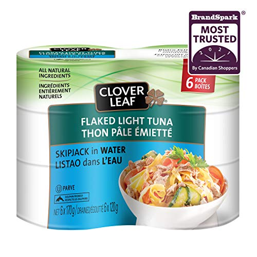 Clover Leaf Flake Light Tuna in Water, 170g, 6 Count
