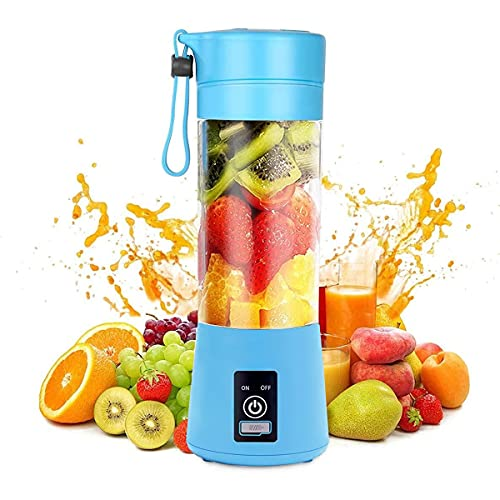 BLUWTE Portable Blender, Personal Blender for Smoothies , Juicer Cup ,Electric Fruit Mixer, with USB Charge, Six 3D Blades for Excellent Blending, 380 ml