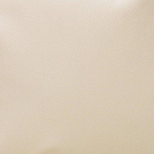 Morbidissimi Tessuto Ecopelle al Metro Cannes 550 gr/mq Finta Pelle h. 140 cm R027 Panna