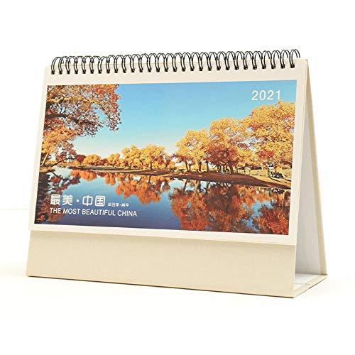 N \ A Calendario Adviento Chinos Año Nuevo 2021 Calendario Mesa 2021 Escribir para el Año Lunar del Buey,25.5x8x20cm,Foto de Paisaje Calendari Sobretaula 2021 para El Nuevo Año
