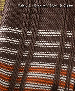 Neotrims Knit Rib Texture Fabrics By The Yard For Garments, Dressmaking Jersey. Light & Medium Weight Material for Apparel. A Selection of Knitted Craft Jerseys in Stunning Colours, Textures, Ottoman Ribs. Beige, Brown, Denim Blue Tie & Dye, Navy, Orange, Green. Great Price