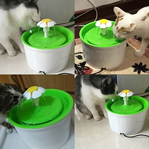 𝐑𝐞𝐠𝐚𝐥𝐨 𝐝𝐞 𝐍𝐚𝒗𝐢𝐝𝐚𝐝 Cosiki Fuente para Mascotas, dispensador automático de Agua para Gatos de 1,8 m / 70,9 Pulgadas con 3 filtros de Repuesto y 1 Alfombrilla de Silicona para Gatos, Perro