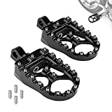 CNC Wide Fat Foot Pegs for Dyna Sportster Fat boy Iron 883 Softail Street Glide, 360° Rotating MX Chopper Bobber Style Motorcycle Footpegs Black