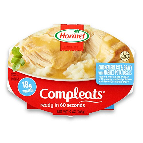 Hormel Compleats Chicken Breast with Rib Meat and Mashed Potatoes with Gravy (Pack of 6)