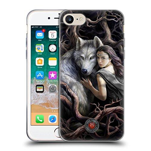 Head Case Designs Licenza Ufficiale Anne Stokes Legame di Anime Lupi 2 Cover in Morbido Gel Compatibile con Apple iPhone 7 / iPhone 8 / iPhone SE 2020