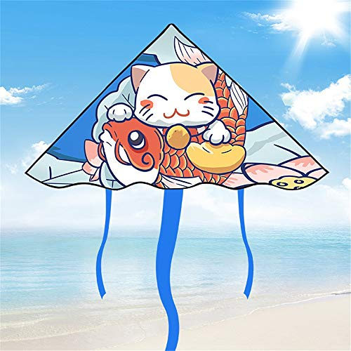 MOMIN Single Line Kite Large Kite and Rainbow Kite for Kids and Adults Outdoor Games Activities, Beach Trip, Flying Easily for children from 3 years old (Color : Multi-colored, Size : One size)