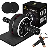 PATHONOR Ab Roller Wheel for Abdominal Exercise, 4-in-1 Abs Roller Wheel Kit with Core Sliders, Knee...