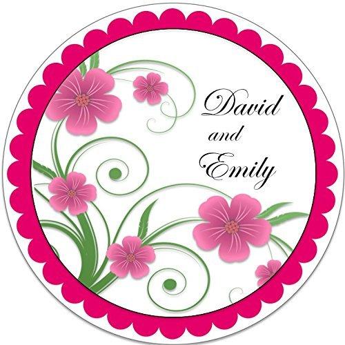 40 Labels Manufacturer OFFicial shop Floral Vine - Round Party Stic Personalized wedding 2