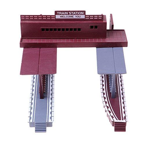 yotijar Diseño de Paisaje de Diorama de Modelos de Estación de Tren...