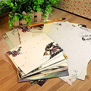 10pcs/pack Vintage Chinese style Ink Painting DIY Kraft Letter Paper Envelope for Invitations Sobres Invitacion (Color : R...