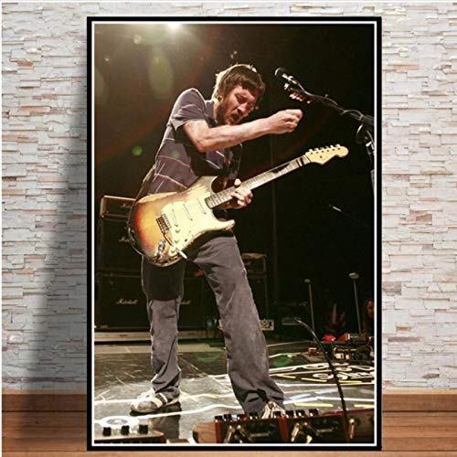 lubenwei John Frusciante Rock Music Star Canvas Painting Posters And Prints Wall Art Picture Vintage Art Decorative Home Decor 40x50cm No frame AW-424