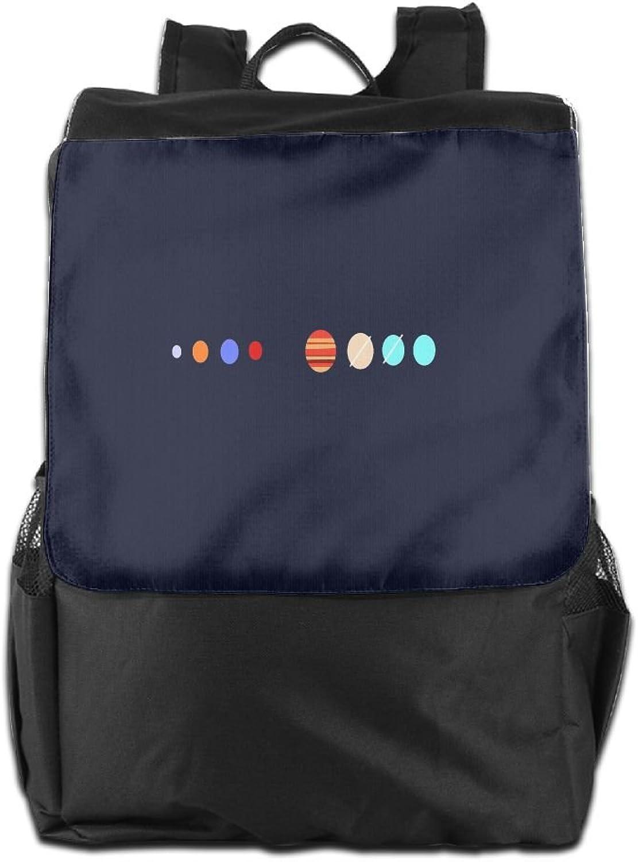 Nollm Cartoon Planet Cartoon Backpack Travel Shoulder Bag for Men Women and Teens