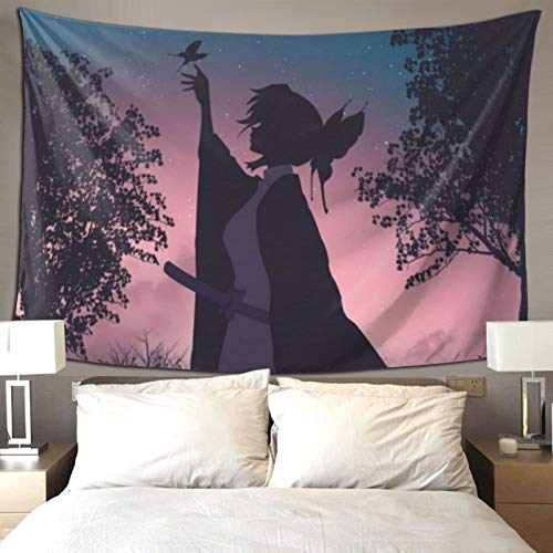 D-WOLVES Japanese Tapestry Anime Wall Hanging 60x70 Inch, Cartoon Wall Tapestries Blanket Home Decorations for Living Room Bedroom Dorm Decor