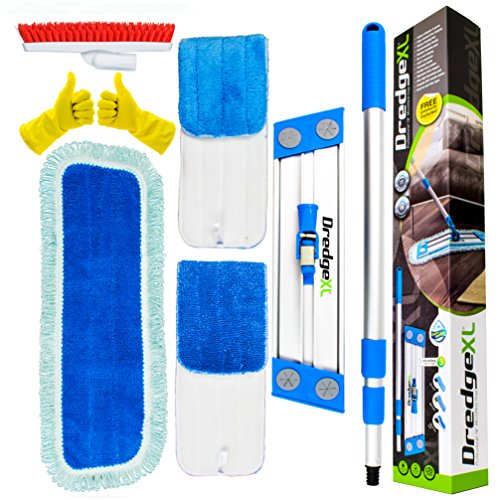 Temples Pride Microfiber-Mop-Flat-Wet-Dry-Hardwood-Floor-Cleaning-System Cleans Dog Hair...