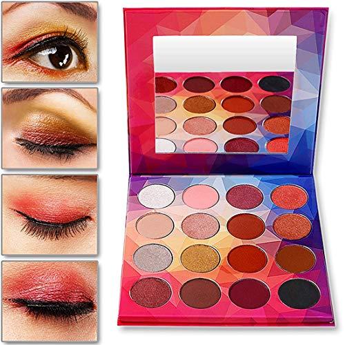 UCANBE BELLE Diamant 16color Fard à paupières Pallete Matte Eye Shimmer Ombre Humide Palette de Maquillage Nu en Poudre pour Beauté