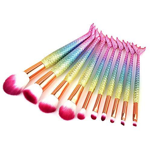 10Pcs Diamond Bunte Wechsel Make-Up Pinsel Set Puder Foundation Textmarker Augenbrauen Lidschatten Cosmeitc Blending Make-Up Pinsel Werkzeug