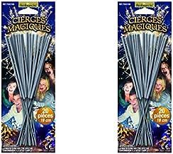 Lot de 40 Cierges magiques sous blisters - longueur 17 cm - longueur utile 8 cm - durée unitaire 45 secondes - décoration d'artifice de gateau pour l'intérieur catégorie 1